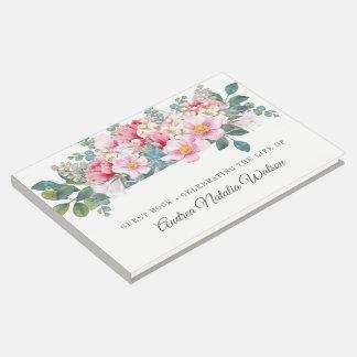 Fragrant Garden Funeral Guest Sign In Book