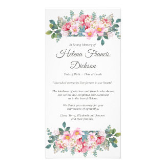 Fragrant Garden Funeral Thank You Card
