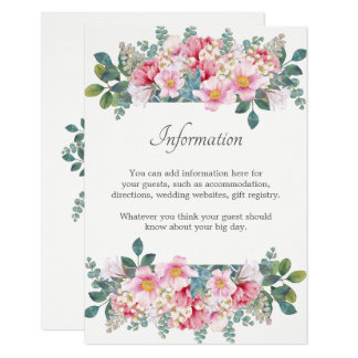 Fragrant Garden Wedding Information Card