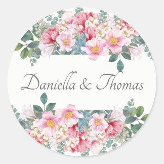 Fragrant Garden Wedding Invitation Stickers