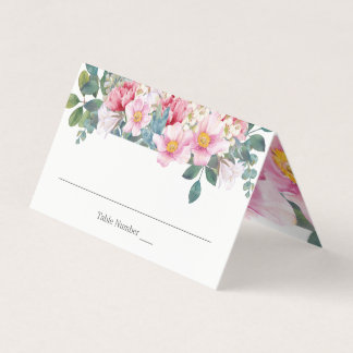 Fragrant Garden Wedding Place Cards