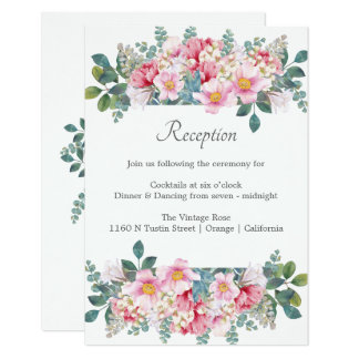Fragrant Garden Wedding Reception Card