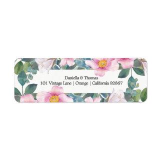 Fragrant Garden Wedding Return Address Labels