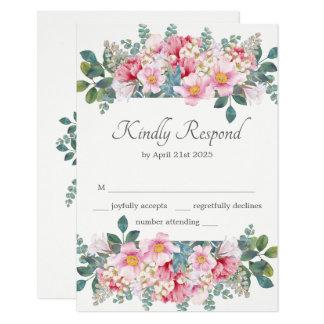 Fragrant Garden Wedding RSVP Card