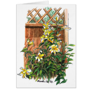 Fragrant lilies card