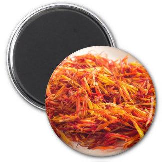 Fragrant saffron close-up magnet