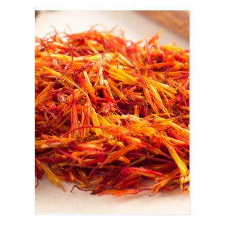 Fragrant saffron close-up postcard