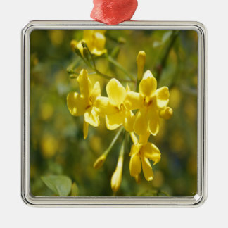 Fragrant Yellow Flowers Of Carolina Jasmine Metal Ornament