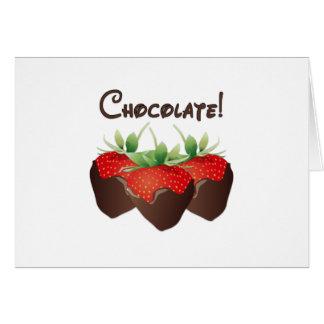 Fraise de chocolat cartes de vœux