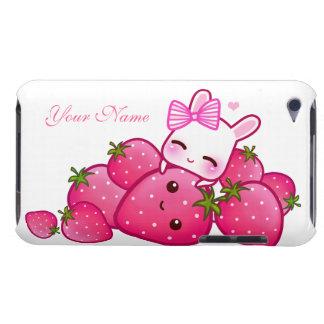 Fraises mignonnes de lapin et de kawaii - coque Case-Mate iPod touch