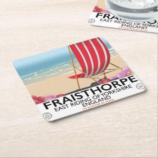 Fraisthorpe East Riding of Yorkshire, England. Square Paper Coaster