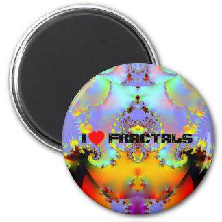 Fraktal009 - I LOVE FRACTALS Refrigerator Magnets