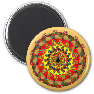 Fraktal circle almond bread circle 2 inch round magnet