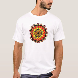 Fraktal circle almond bread circle T-Shirt
