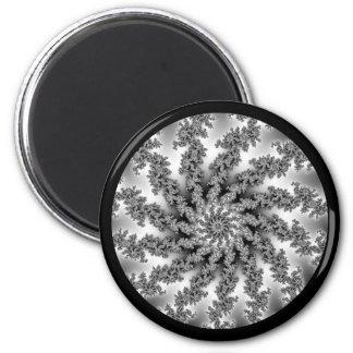 Fraktal spiral almond bread spiral 2 inch round magnet