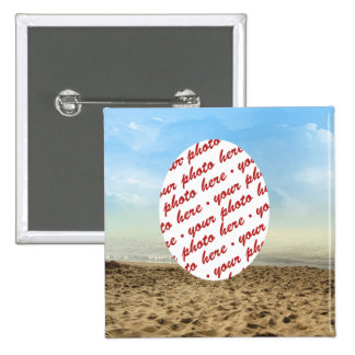 Frame at the Beach Pinback Button