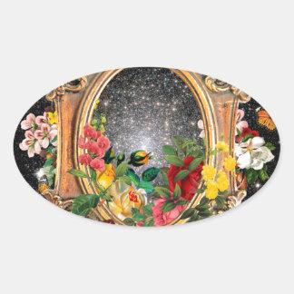 Frame of Life Oval Sticker
