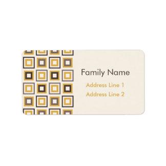 Frame Squares Pattern Label