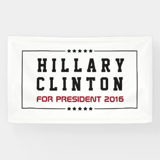 Frame & Stars Hillary Clinton 2016  Election Banner