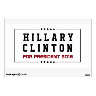 Frame & Stars Hillary Clinton 2016 Election Wall Sticker