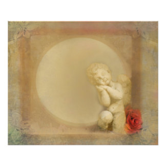 frame with angel Photo Enlargement