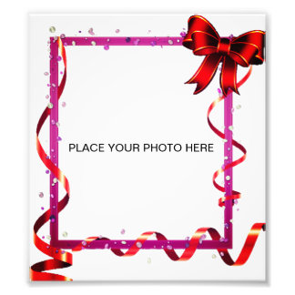 Frame with Ribbon Bow Photo Print