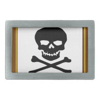 framed black cross bones belt buckle