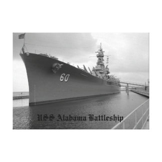 Framed canvas USS Alabama Battleship