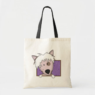 Framed Cartoon Chinese Crested Tote Bag