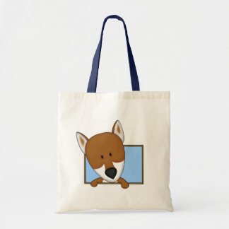 Framed Cartoon Shiba Inu Tote Bag