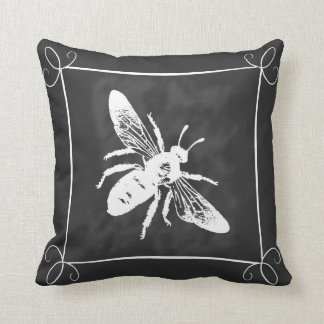 Framed Chalkboard Bee Pillow