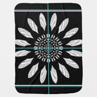Framed daisy baby blanket