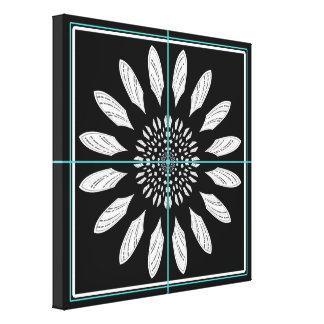 Framed daisy canvas print