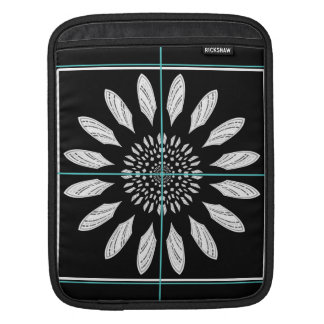 Framed daisy iPad sleeve