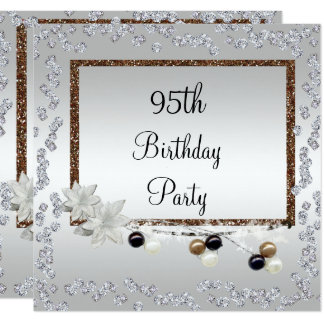 Framed Elegance 95th Birthday Card