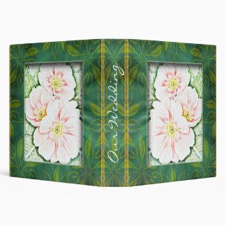 Framed Floral Wedding Planner 3 Ring Binder