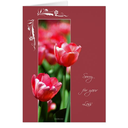 Framed Flower Tulips-Loss Card