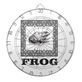framed frog artwork dartboard