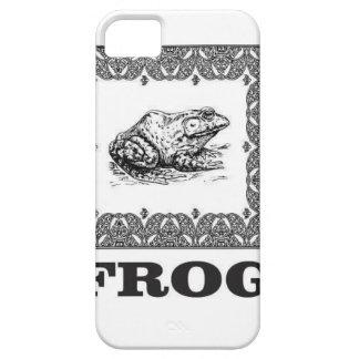 framed frog artwork iPhone 5 case
