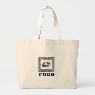framed frog artwork large tote bag