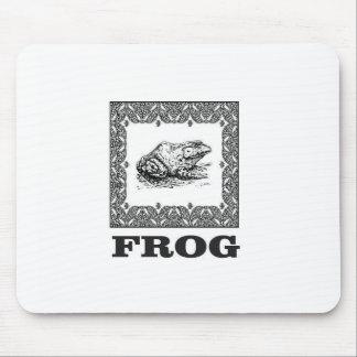 framed frog artwork mouse pad