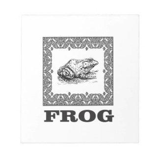 framed frog artwork notepad