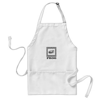 framed frog artwork standard apron