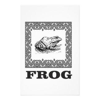 framed frog artwork stationery