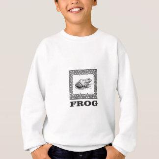 framed frog artwork sweatshirt
