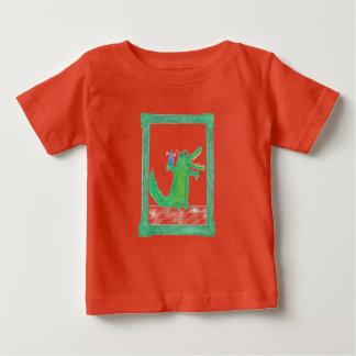Framed funny crocodile baby T-Shirt