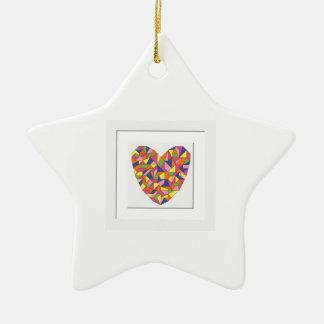 Framed Heart Ceramic Ornament