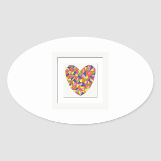 Framed Heart Oval Sticker