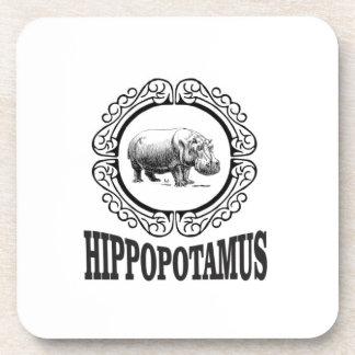 Framed Hippo Coaster