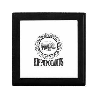 Framed Hippo Gift Box